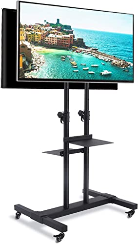 Rfiver 37 to 80 Inch Dual Mobile TV Cart