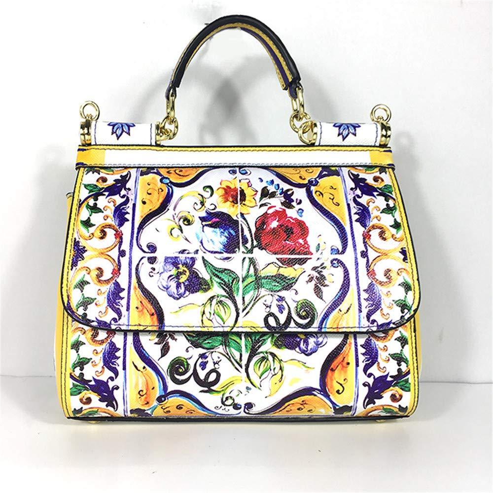 BAG Estampado de Flores Pintado Bolso de Hombro del ...