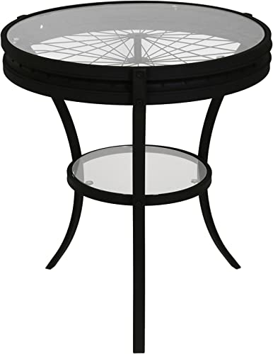 Monarch Specialties Hammered Black Accent Table