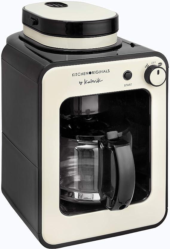 Team Kalorik Cafetera 2-en-1 con capacidad 0.6 L, Jarra de vidrio, Hasta 4-6 tazas, 600 W, Blanco/Negro, TKG CCG 1001 KTO: Amazon.es: Hogar