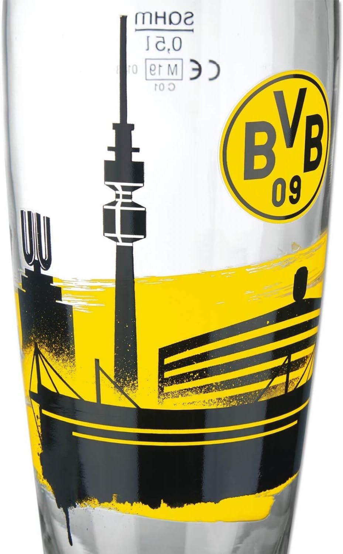 Weizenbierglas Bierglas Glas L Borussia Dortmund Weizenglas Wei/ßbierglas