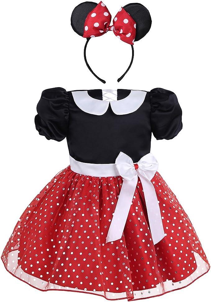 IEFIEL Vestidos de Princesa Fiesta Bautizo para Bebés Niñas ...