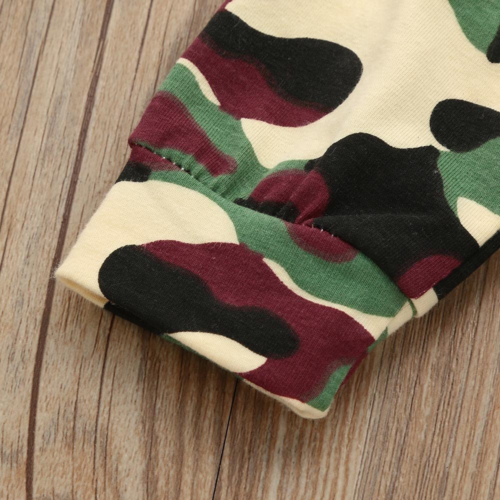 Toddler Baby Boys Girls Clothes Camouflage Outfit Long Sleeve Sweatsuit Baby Outfits Pants Set with Headband