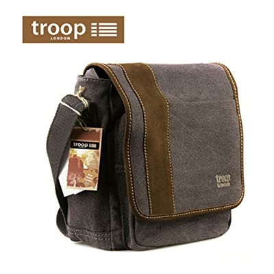 NEW Troop London TRP-0307 Unisex Casual Shoulder Bag Canvas, Leather Travel Bag hot sale