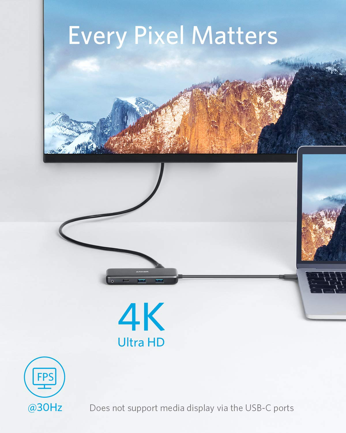 USB C Hub Adapter 7-in-1 USB C Adapter with 4K HDMI microSD and SD Card Reader Anker 2 USB 3.0 Ports Pixelbook XPS Power Delivery USB C Data Port for MacBook Pro Upgraded