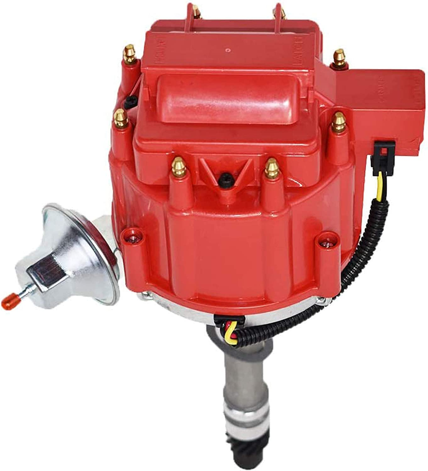 A-Team Performance Complete HEI Distributor 65K Coil Compatible with Chevrolet Chevy GM GMC Small Block Big Block Corvette Tach Drive 62-74 SBC BBC 7500 RPM 283 327 350 383 400 396 427 454 Red Cap