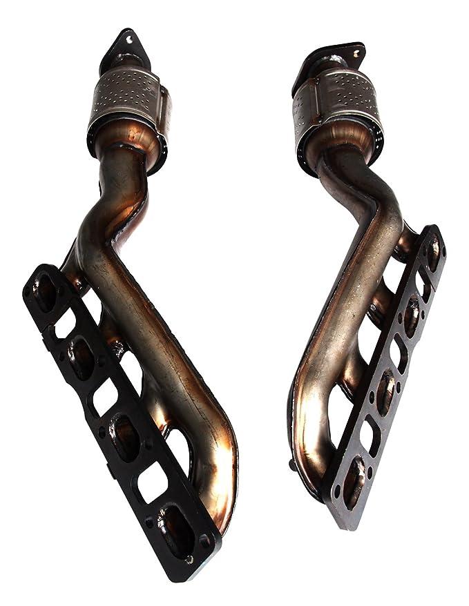 Nissan Titan 5.6 V8 (2004, 2005, 2006, 2007, 2008, 2009, 2010, 2011 y 2012) (convertidor catalítico Colector Set: Delantero LHS Radiador, ...