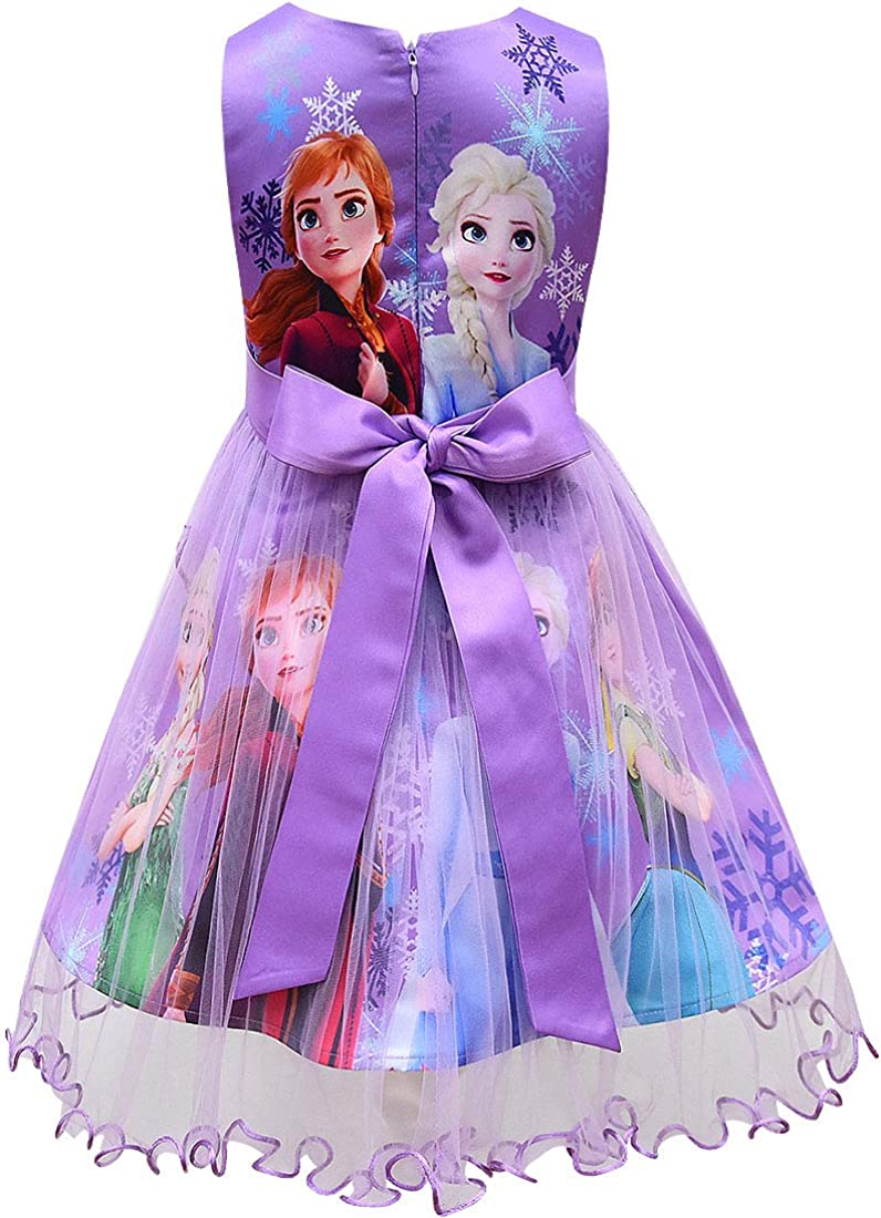 Koveinc Princess Dress Girls Sleeveless Halloween Cosplay Dress up