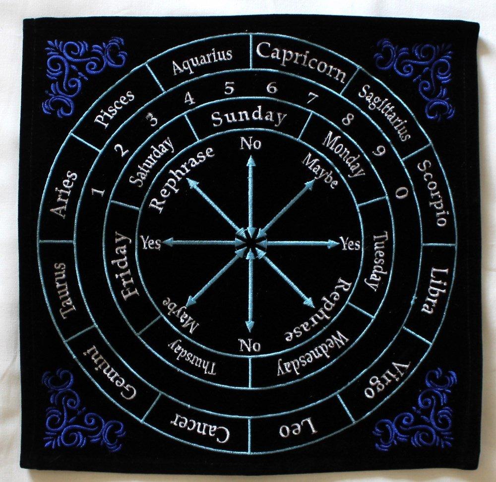 d669195c5 Amazon.com: Pendulum Mat Astrology Zodiac (Black with Colors): Home &  Kitchen