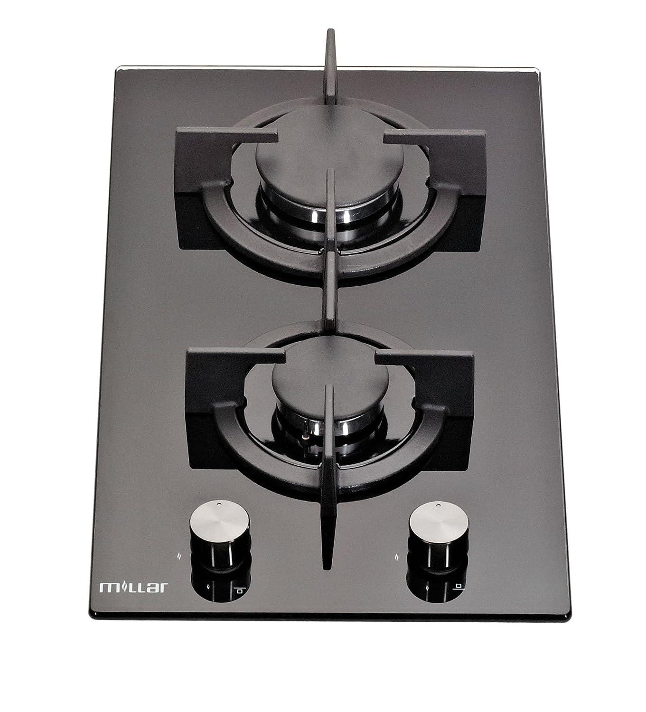 Millar GH3020PB 30 cm gas-cocina vitrocerámica ...: Amazon ...