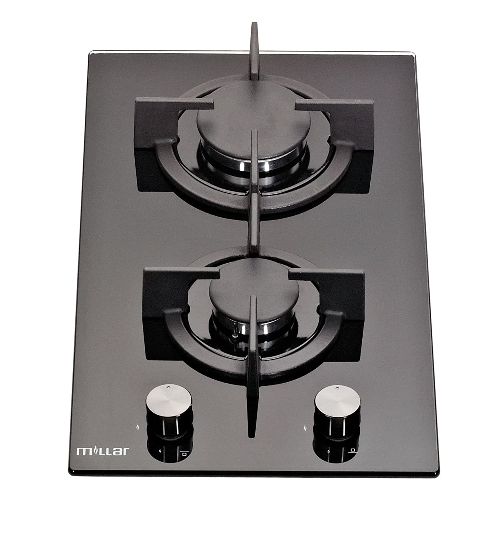 Millar Gh3020pb 30cm Built In 2 Burner Domino Gas On Glass