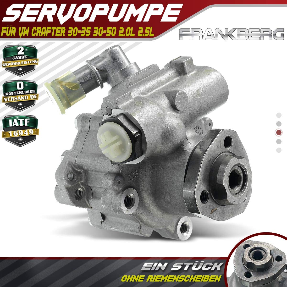 2E0422155A Servo Pump Power Steering Hydraulic Pump for Amarok Crafter 2H/_ S1B 2006-2018