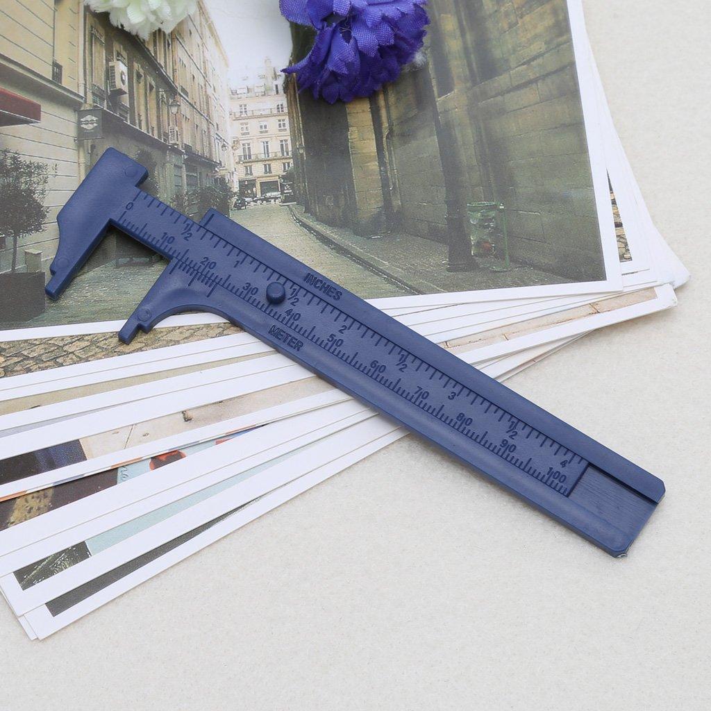 Linlin Plastic Ruler Sliding Gauge Vernier Caliper Jewelry Measuring Inch cm 8cm//10cm