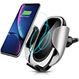 CREUSA Wireless Car Charger Mount, Automatic 10w Qi Fast Charging Car Phone Holder with Adjustable Coil Compatible for…