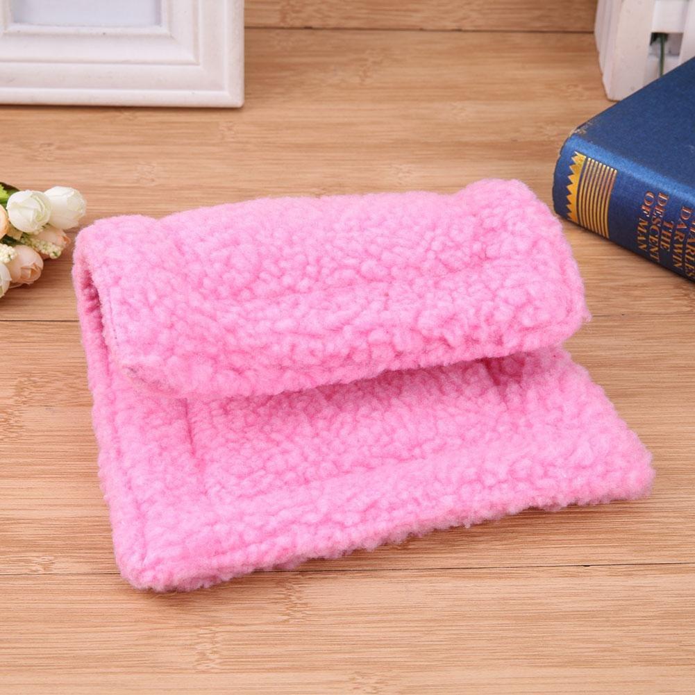 Rose Red vanpower Plush Pet Hamster Cushion Mat Squirrel Blanket Guinea Pig Bed Pad