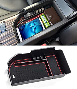 UILB for Toyota Camry Center Console Storage Box Camry Interior Accessories Removable and Washable 2018 2019