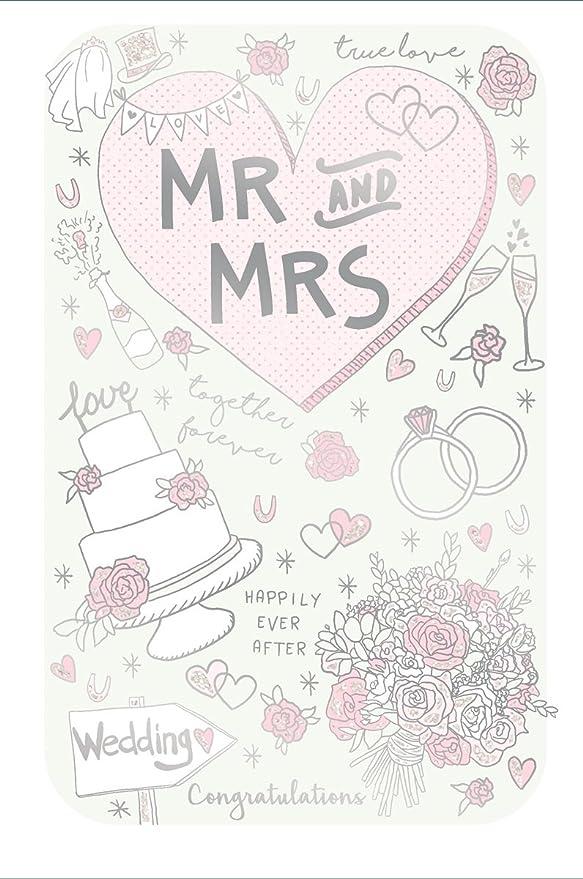 Oro - Tarjeta de felicitaciones de boda de novia y novio ...