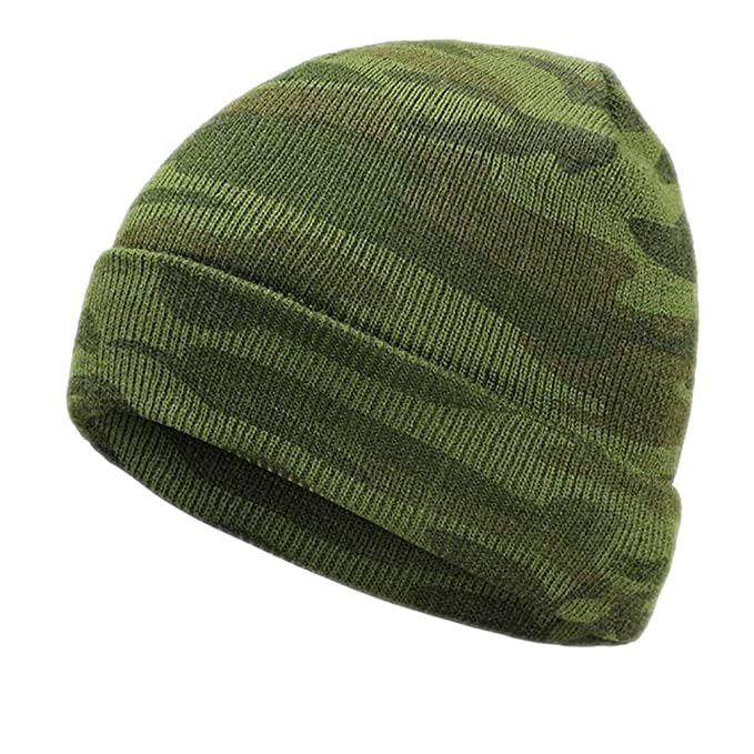 385bebef189 HUIBD Winter Men s Knit Camouflage Hats Warm Gorros Touca Camouflage  Outdoor Warm Green Military Army Caps Bone Green at Amazon Women s Clothing  store
