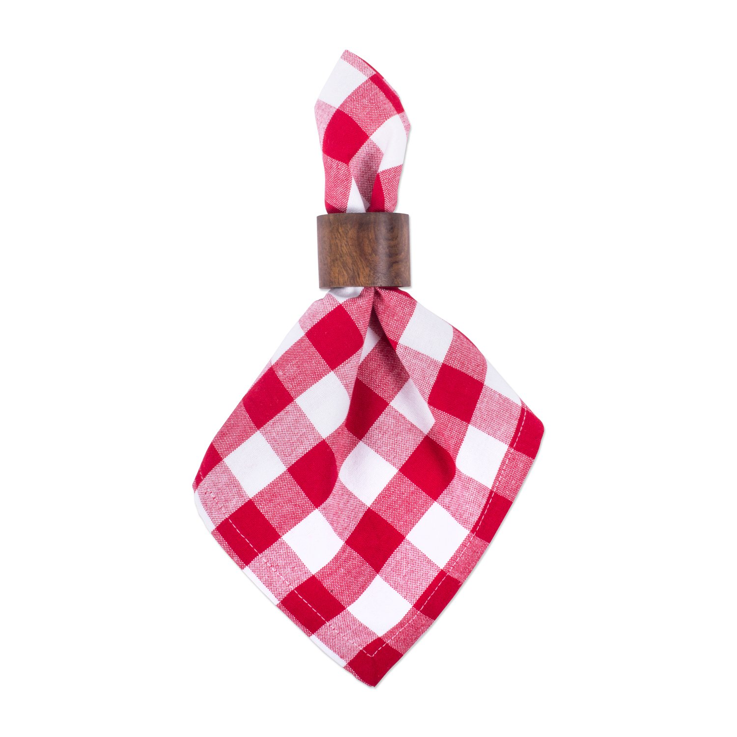 DII Oversized 20x20 Cotton Napkin, Pack of 6, Red & White Check - Perfect for Fall, Thanksgiving, Farmhouse DÃcor, Christmas, Picnics & Potlucks or Everyday Use by DII (Image #5)