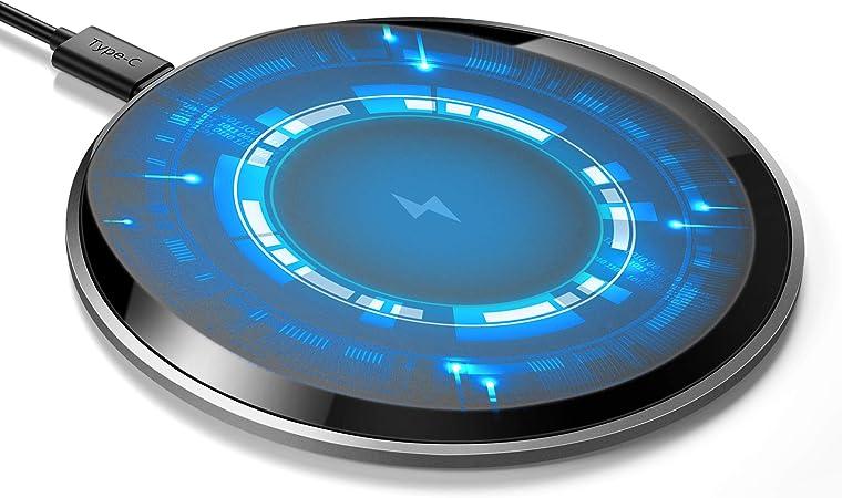 Cargador Inalámbrico Magnética,【15W PD18W 0.1S Rápido Respuesta Wireless Charger】0.5cm Delgado Compatible con 15W/10W/7.5W/5W para iPhone 12/12Pro/SE/11/11Pro/XS/XR/X/8 Plus,Sumsung etc Android