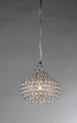 Whse of Tiffany RL1374 1 Kiss Crystal Chandelier