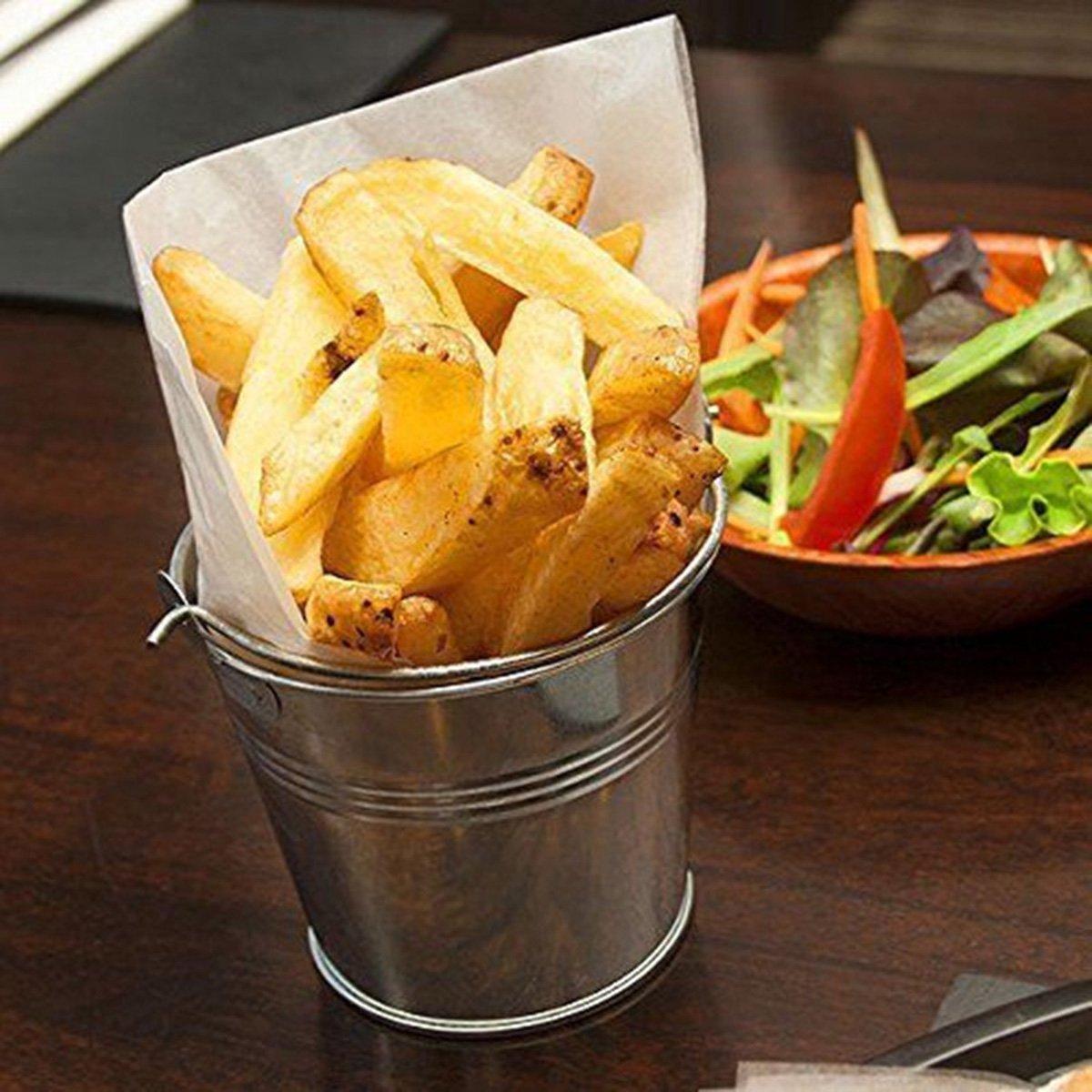 OUNONA Mini Metal Bucket Set of 6 /Mini Food Containers/Succulent Wedding Buckets 10.5x7.2x10.5cm by OUNONA (Image #2)