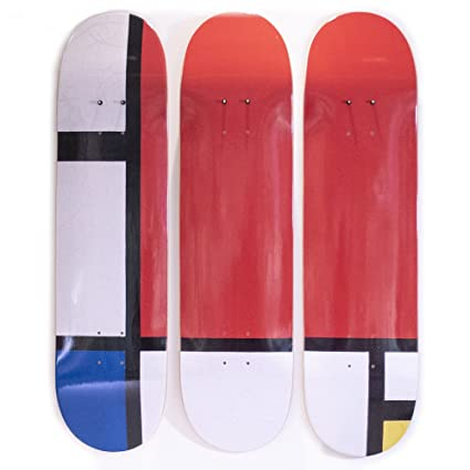 Amazon.com: Musart Limited Edition - Mondrian - Skateboard Triptych ...