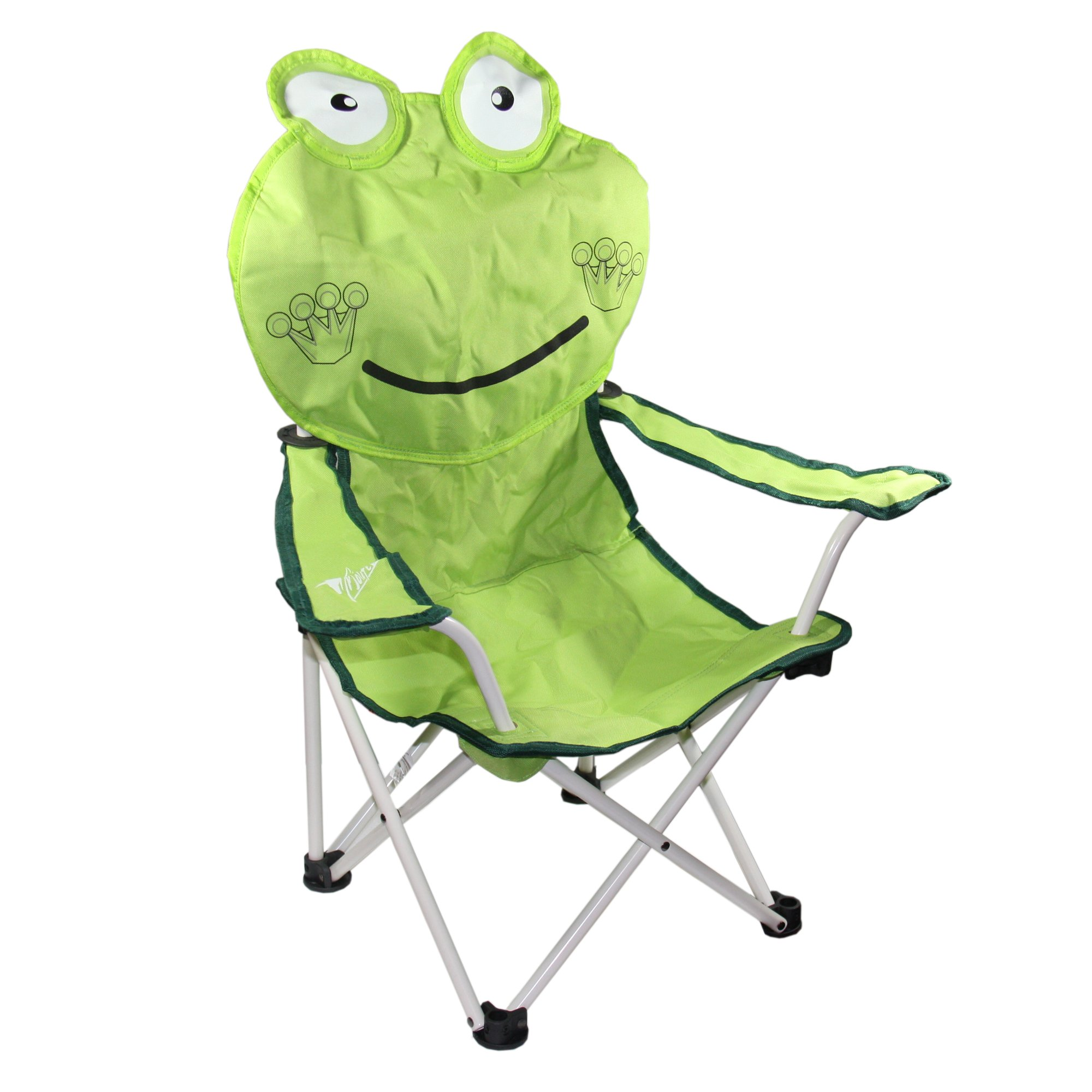 30 Inch Happy Frog Children's Folding Chair with Armrest