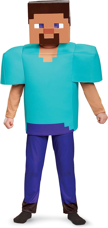 Steve Deluxe Minecraft Costume, Multicolor, Medium (12-12)