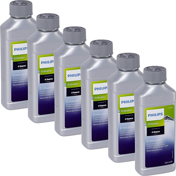 6 x desincrustante líquido Saeco CA6701/00 para elmáquinas totalmente automáticas (cafetera) 250 ml