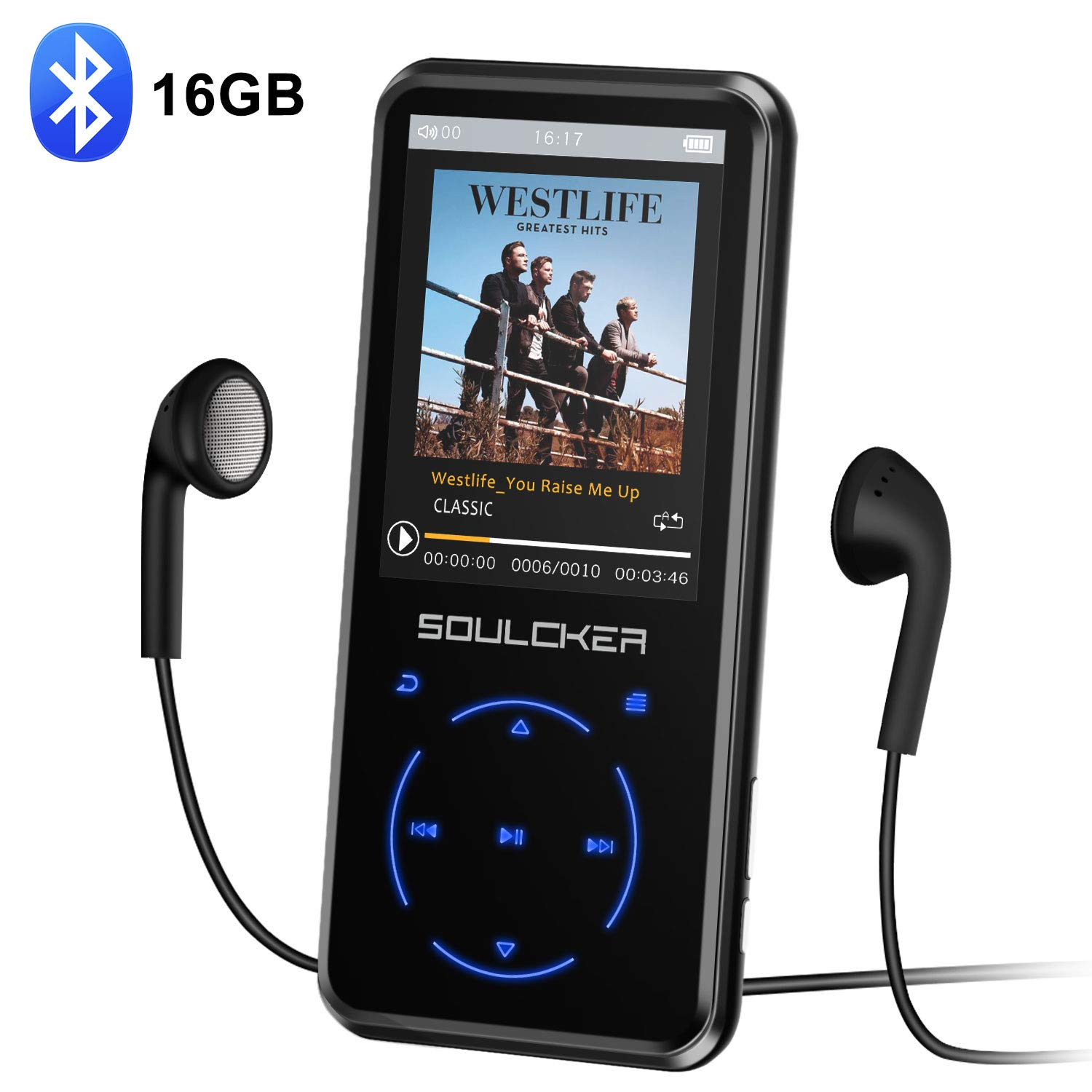 MP3 Player, 16GB MP3 Player with Bluetooth 4 0, Portable HiFi Lossless  Sound MP3 Music Player with FM Radio Voice Recorder E-Book 2 4'' Screen,