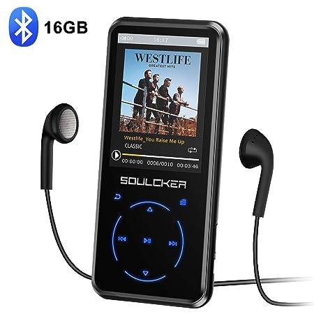 MP3 Player, 16GB Bluetooth MP3 Player mit Kopfhörer, MP3 Player Kinder mit Lautsprecher FM Radio Voice Recorder 2.4 Zoll TFT