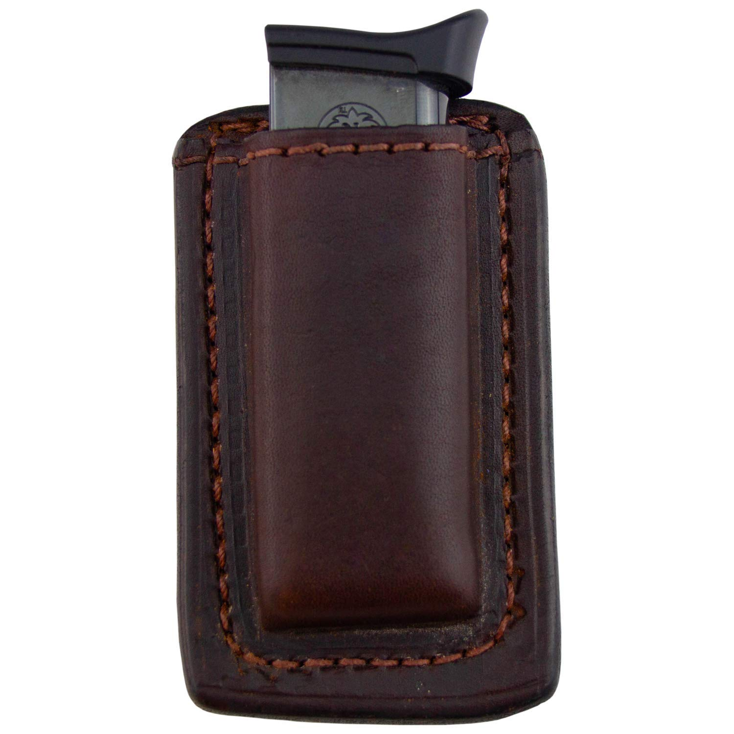 Relentless Tactical Leather Magazine Holder | Made in USA | Sizes to fit virtually Any 9mm.40.45 or .380 Pistol Mag | Single or Double Stack | IWB or OWB 380 Brown by Relentless Tactical