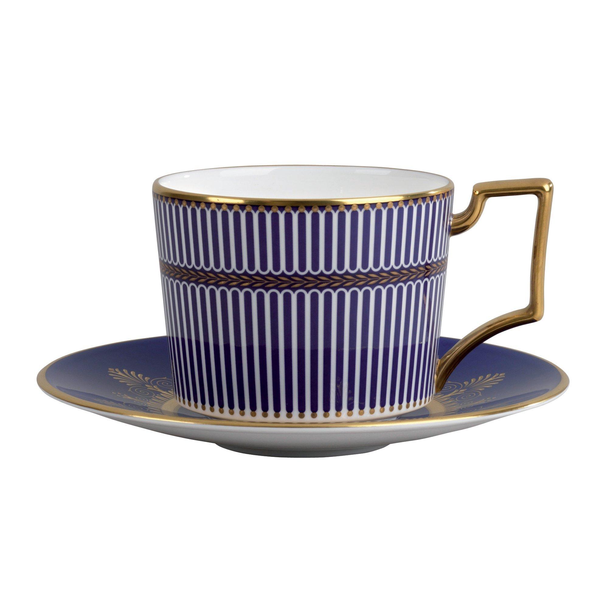 Wedgwood Anthemion Tea Saucer, Blue