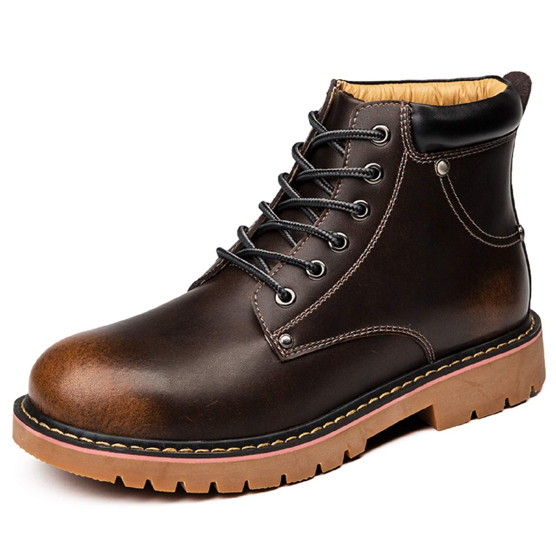 H-Mastery Bottes Homme Cuir Chaussure Hiver Fourrées Chaude Martin Bottines Boots Imperméable