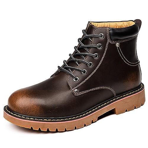 H-Mastery Botas Hombre Piel Casual Botines Cuero Invierno: Amazon.es: Zapatos y complementos