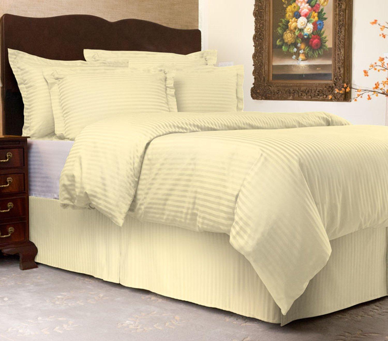 Harmony Lane Sateen Stripe Tailored Pillow Sham Burgundy King Size