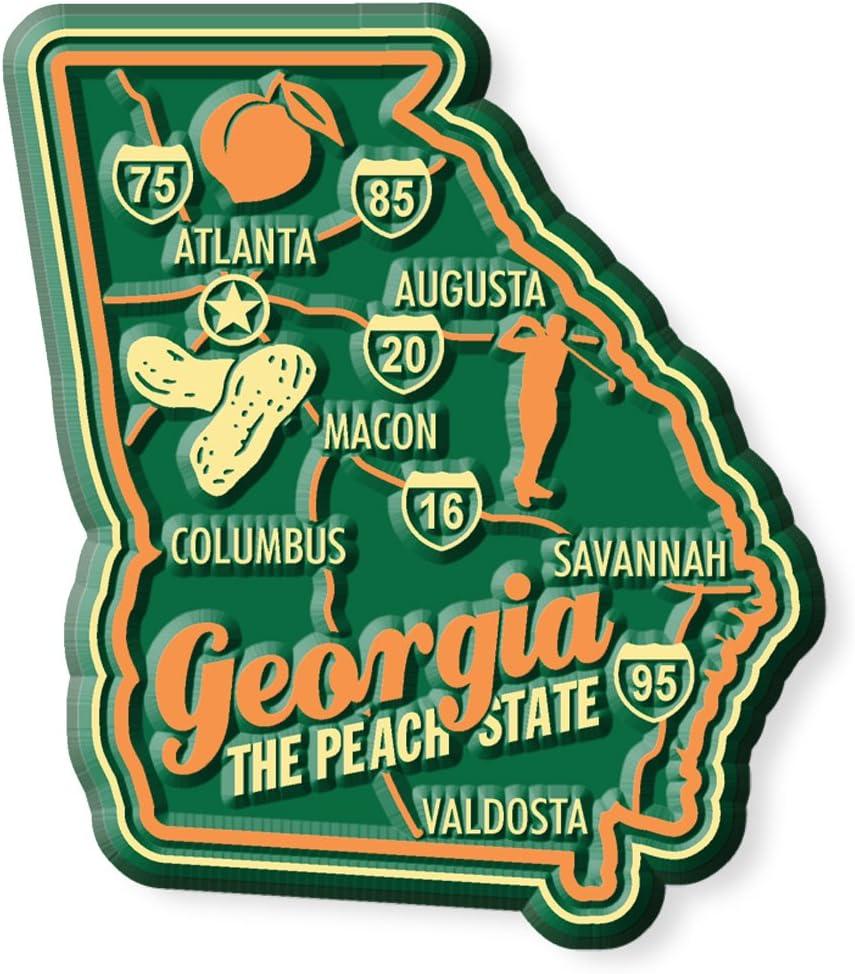 Premium State Map Magnet - Georgia