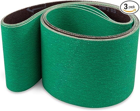 1 X 44 Inch 80 Grit Metal Grinding Ceramic Sanding Belts Extra Long Life 12 Pack