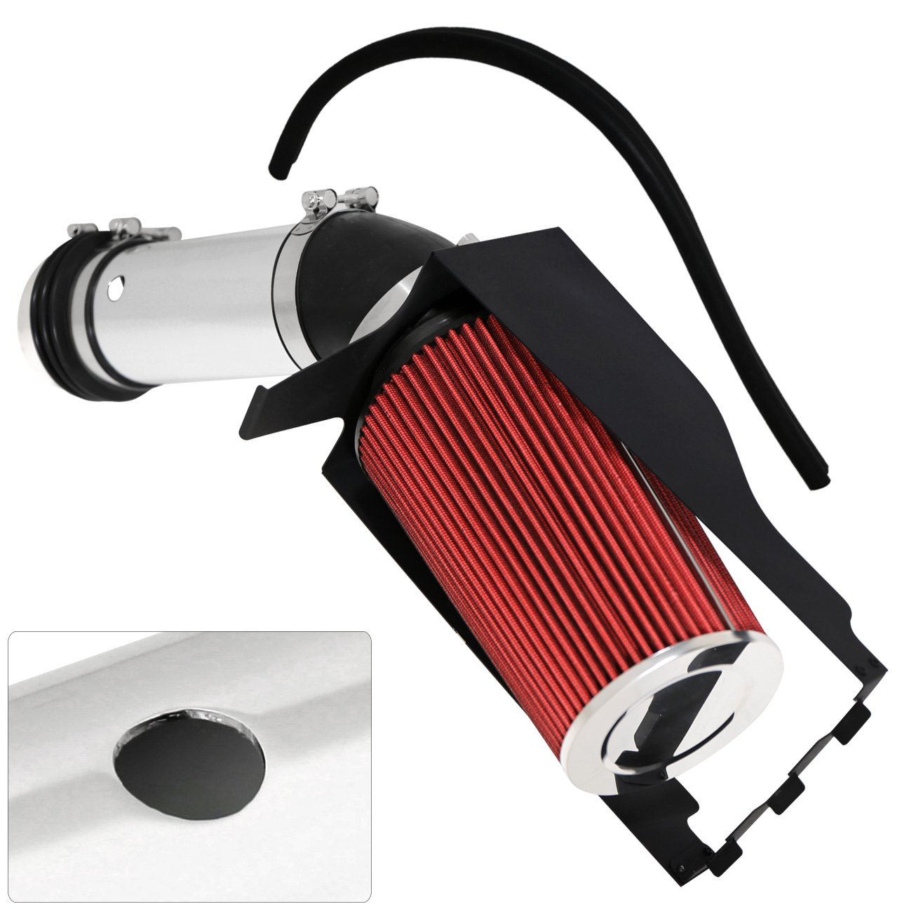 For Ford F250 F350 F450 Excursion 7.3L V8 High Flow Induction Air Intake System + Heat Shield Chrome Piping Kit