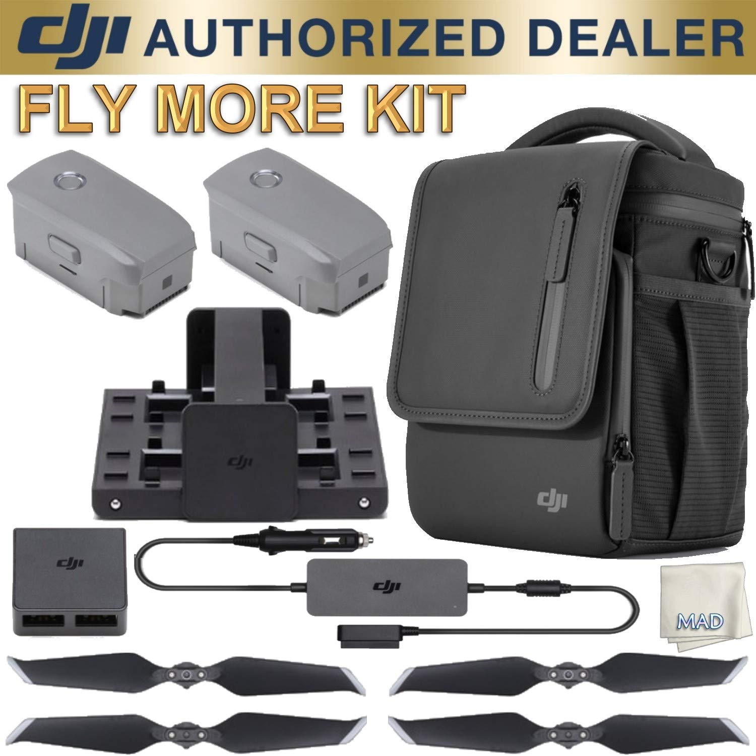 DJI Fly More Kit Mavic 2 + Mad Cameras Microfiber Cleaning Cloth