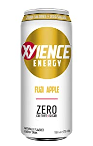 XYIENCE Energy Drink | Fuji Apple | Sugar Free | Zero Calories | Natural Flavors | Vitamin Fortified | 16 Fl Oz (Pack of 12)