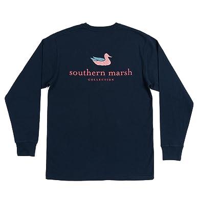865d89db Amazon.com: Southern Marsh Men's Authentic Flag Long Sleeve Tee: Clothing
