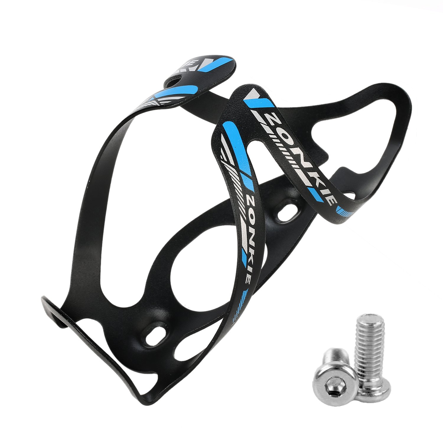 zonkie Road, Mountain Bicycle Water Bottle Cage, No Lost Bottles, Lightweight and Strong Bicycle Bottle Holder, Quick and Easy to Install, Great for Road, Mountain and Kids Bikes 30g