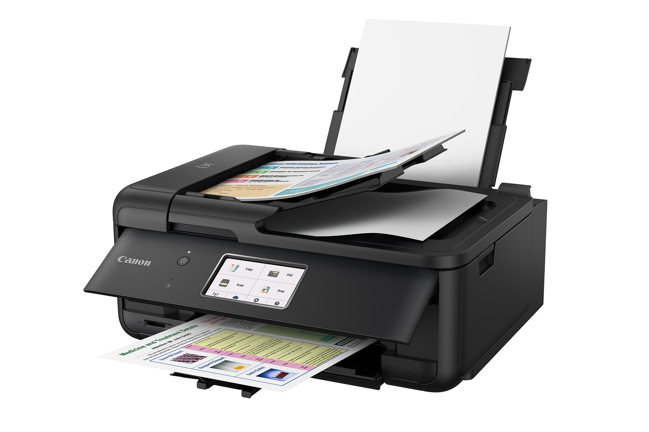 Canon PIXMA TR8520 Wireless All in One Printer | Mobile Printing | Photo and Document Printing, AirPrint(R) and Google Cloud Printing, Black by Canon (Image #2)