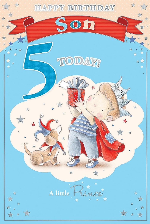 Amazon.com: Candy Club tarjeta de cumpleaños de hijo – 5 hoy ...