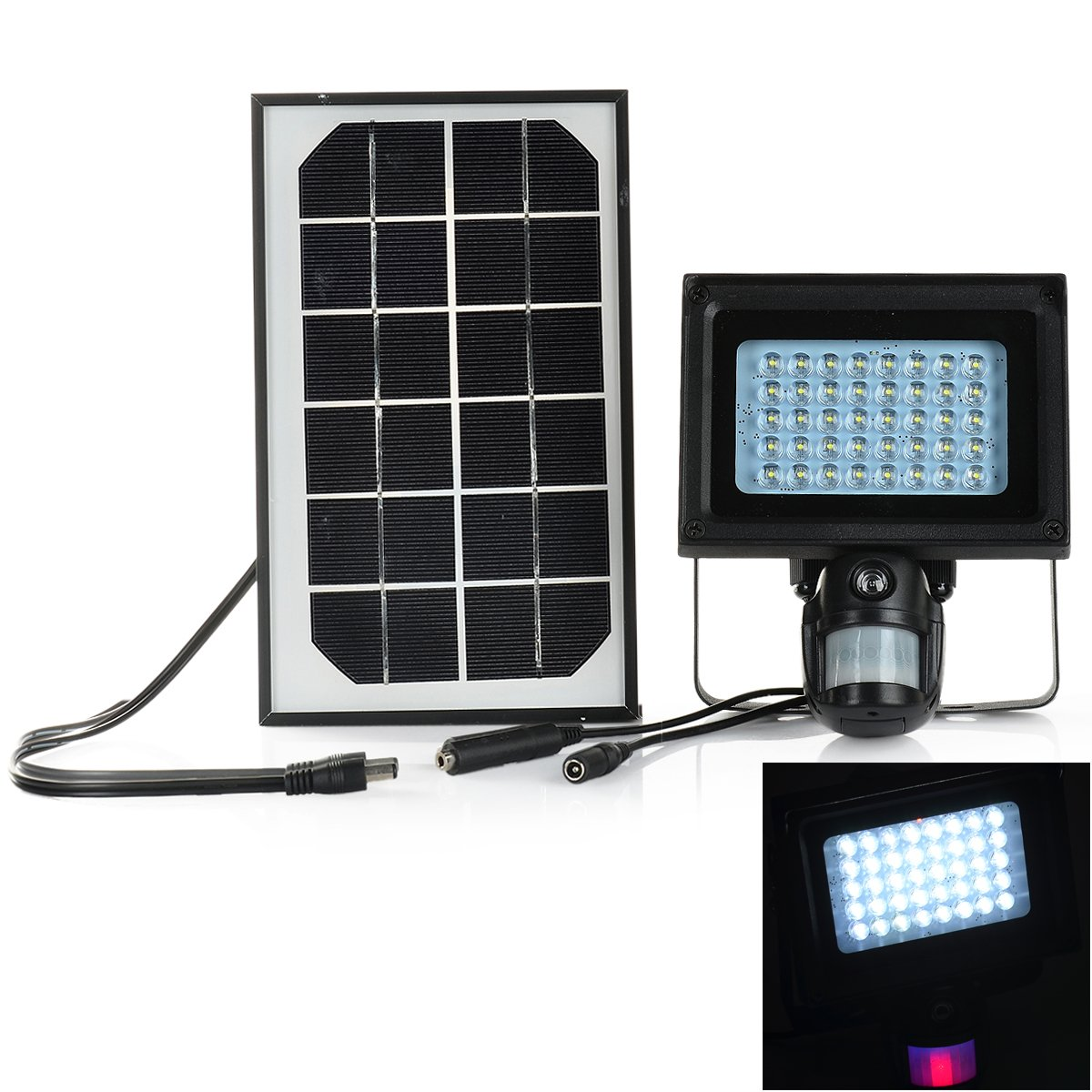 Solar Powered 1-CH Windows 7 Projection Lamp + 1.3MP PIR DVR - Black by OLSUS