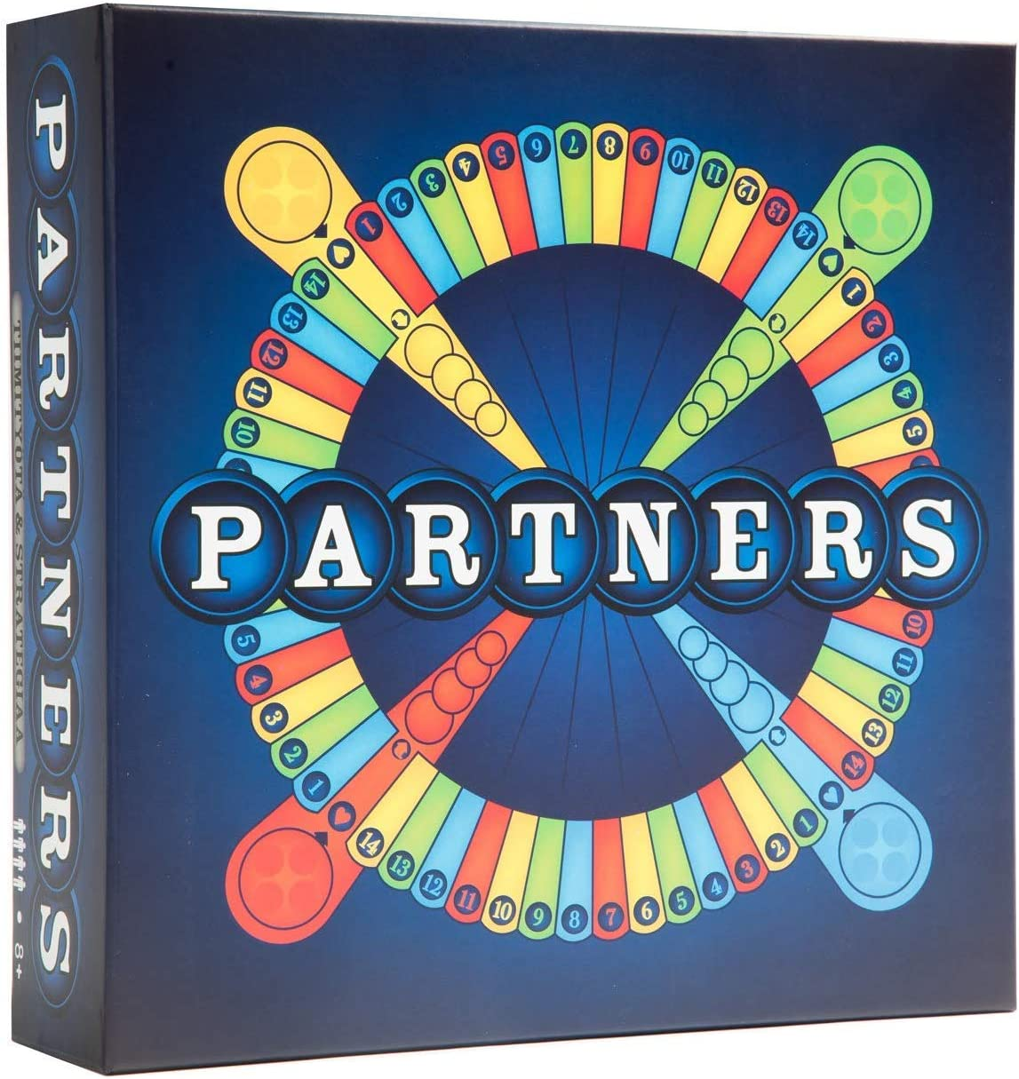 perfect for game night with family PARTNERS board game adults A 4 player strategy board game played in teams of 2 teens all ages friends