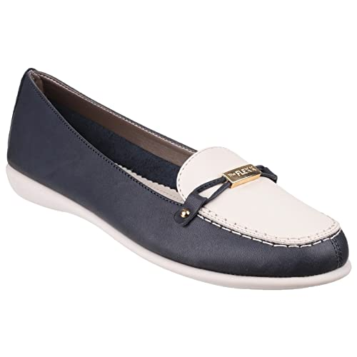 7ed77a2a559 The Flexx Womens Ladies Miss Match Elba Contrast Casual Loafer (3 UK ...