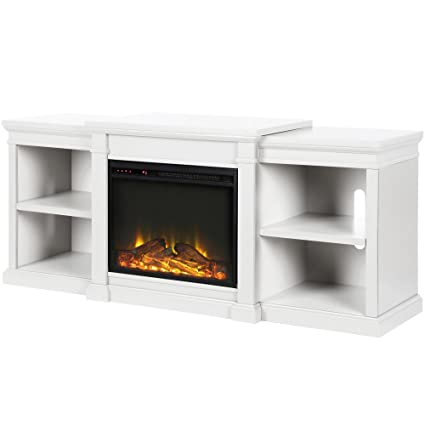 white fireplace tv stand Amazon.com: Ameriwood Home 1767196Manchester Fireplace TV  white fireplace tv stand